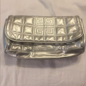 GIVENCHY Parfums Quilted Silver Cosmetics Bag
